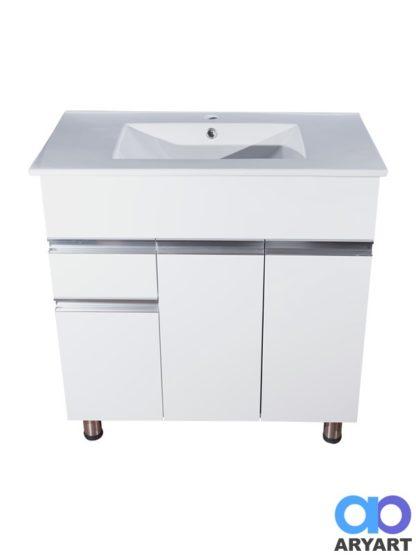 Mueble 3 puertas + cajón y mesada lavatorio