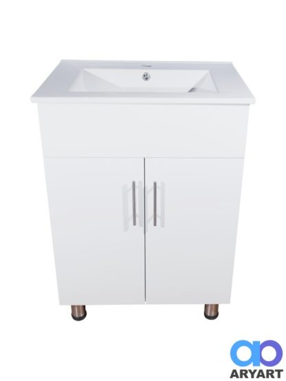 Mueble 2 puertas con mesada lavatorio