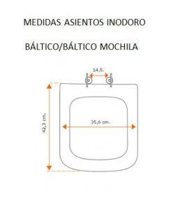 Medidas asiento inodoro Báltico