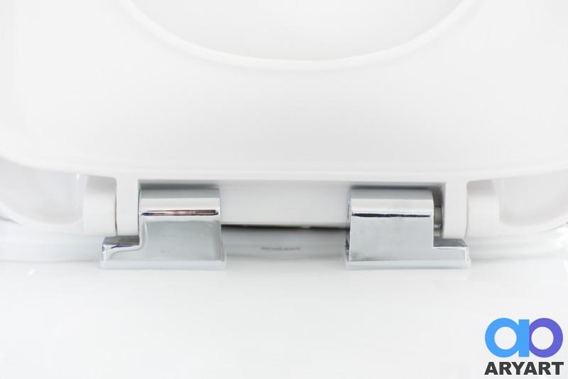 Asiento inodoro duroplast cuadrado cierre suave aryart for Inodoro cuadrado