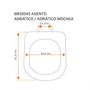 Medidas Adriático y Adriático mochila