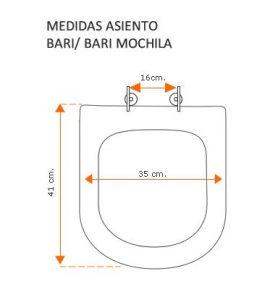 Medidas Bari y Bari Mochila