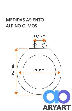 Medidas asiento Alpino