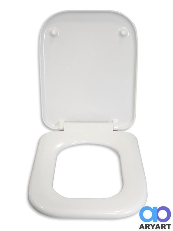 Asiento inodoro duroplast cuadrado herraje acero for Inodoro cuadrado
