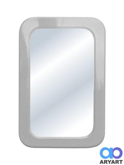 Espejo cuadrado laqueado - gris plata