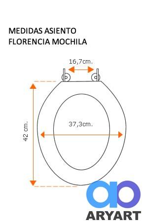 Medidas asiento Florencia mochila