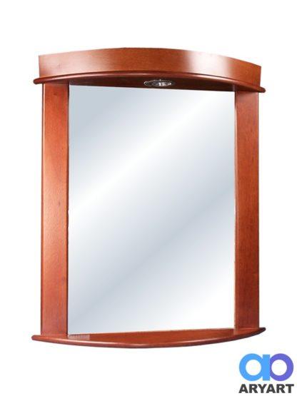 Espejo Ibiza con luz - Cedro