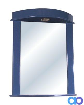 Espejo Ibiza con luz - Azul Piedra